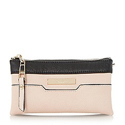 Dune - Neutral colour block triple pouch clutch bag