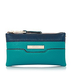 Dune - Teal-synthetic 'Kleo' colour block triple pouch clutch bag
