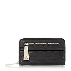 Dune - Black 'Karen' multi compartment zip front purse