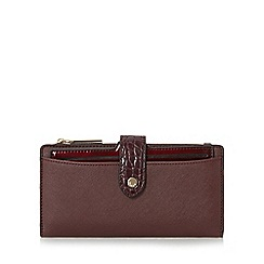 Dune - Dark red 'Karolina' structured purse with removable compartment