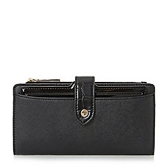 Dune - Black 'Karolina' structured purse with removable compartment