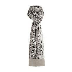 Dune - Grey 'Lucinders' snake print scarf