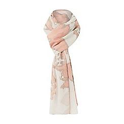 Dune - Light pink 'Lucilla' floral metallic print scarf