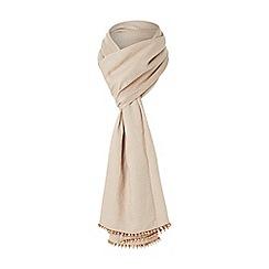 Dune - Rose 'Latoya' bead detail lurex jacquard scarf