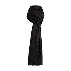 Dune - Black 'Lesley-ann' fray edge leopard print scarf