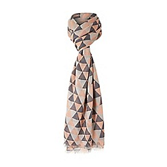 Dune - Multicoloured 'Lynette' fray edge triangle printed scarf