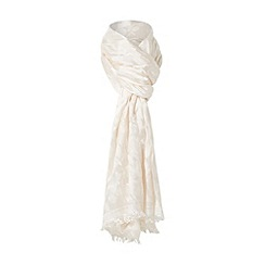 Dune - Cream 'Lesley-ann' fray edge leopard print scarf