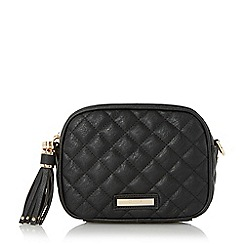 Dune - Black 'Daizy' quilted cross body bag