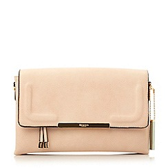 Dune - Neutral foldover multiple compartment clutch bag