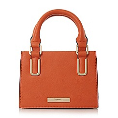 Dune - Orange 'Scarlett-mini' top handle micro bag