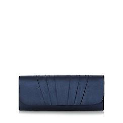 Roland Cartier - Navy 'Breslin' pleated satin clutch bag