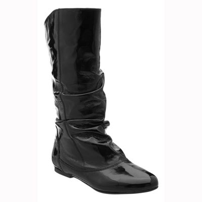 Dune black melissa slouch calf boots
