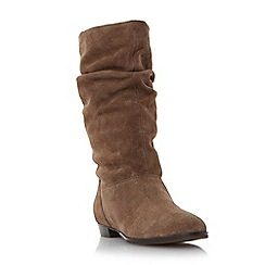 Dune - Taupe 'Relissa' slouch calf boot