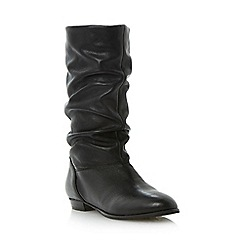 Dune - Black slouch calf boot