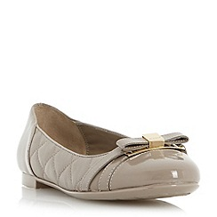 Dune - Neutral quilted leather ballerina shoe