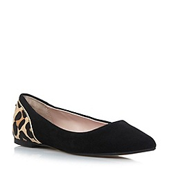 Dune - Black pointed toe flat shoe