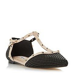 Dune - Black 'Heti' stud detail pointed flat shoe