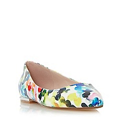 Dune - Multicoloured 'Hydie' bubble print patent flat shoe