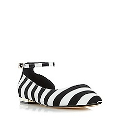 Dune - Multicoloured 'Hustle' monochrome semi d orsay flat shoe