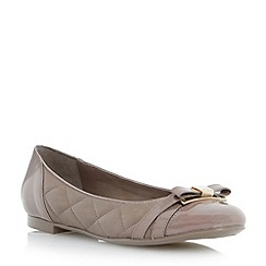 Dune - Grey quilted leather ballerina shoe