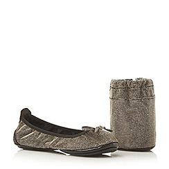 Dune - Metallic sequin fold up ballerina