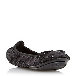 Dune - Black-sequins 'Manhattan' fold up ballerina