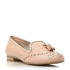 Dune - Pink brogue tassel detail loafer