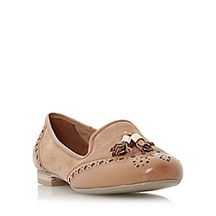 Dune - Tan 'Loki' brogue tassel detail loafer