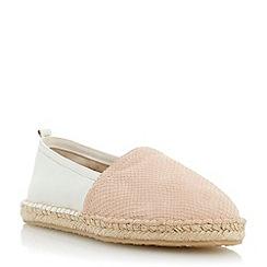 Dune - Neutral contrast vamp espadrille shoe
