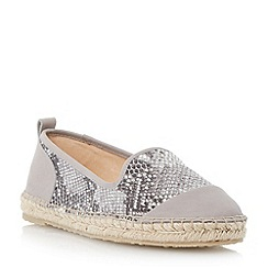 Dune - Grey slipper cut espadrille shoe