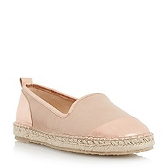 Dune - Pink slipper cut espadrille shoe