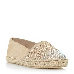 Dune - Metallic stone embellished vamp espadrille shoe