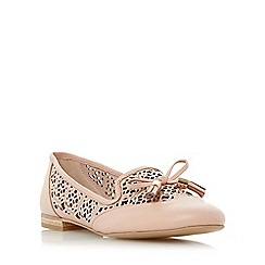 Dune - Light pink 'Luvlie' laser cut tassel slipper flat