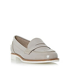 Dune - Grey 'Gleam' white sole penny loafer