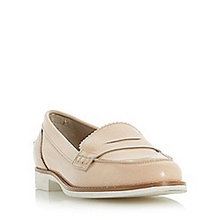 Dune - Natural 'Gleam' white sole penny loafer
