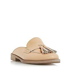 Dune - Camel 'Gee' backless flat loafer