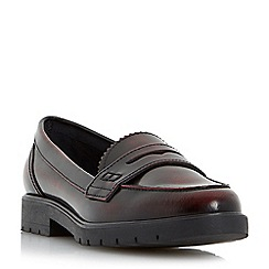 Dune - Red cleated sole penny loafer
