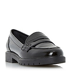 Dune - Black cleated sole penny loafer