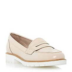 Dune - Neutral cleated sole penny loafer