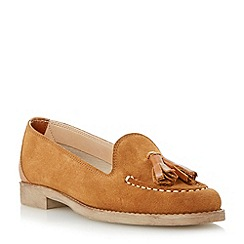 Dune - Brown suede tassel loafer
