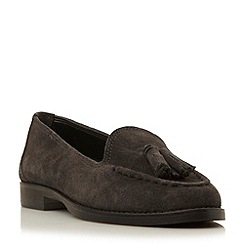 Dune - Grey-suede 'Galileo' suede tassel loafer