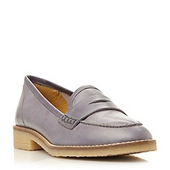Dune - Grey 'Greeta' leather penny  loafer