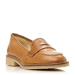 Dune - Tan 'Greeta' leather penny  loafer