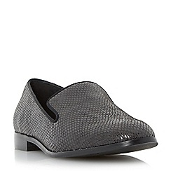 Dune - Grey 'Gray' slipper cut rounded toe loafer