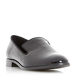 Dune - Black 'Gray' slipper cut rounded toe loafer