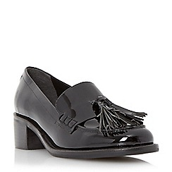 Dune - Black 'Gloria' mid heel block loafer