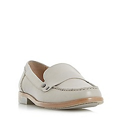 Dune - Light grey 'Giovani' stud detail penny loafer shoe