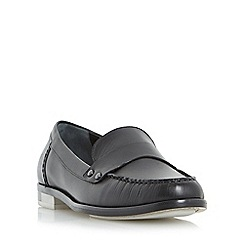 Dune - Black 'Giovani' stud detail penny loafer shoe