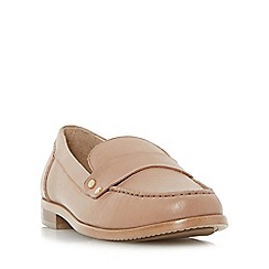 Dune - Natural 'Giovani' stud detail penny loafer shoe