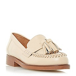 Dune - Natural 'Gallarie' whipstitch tassel loafer